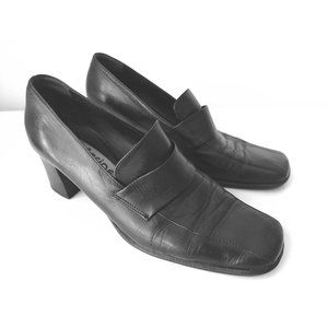 Italian Genuine Leather Loafer Heels Shoes 40 / 9